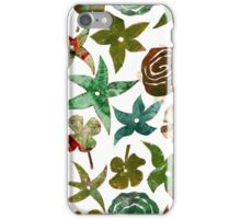 Green Pochoir Floral iPhone Case/Skin