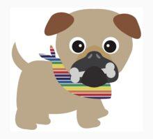 Gay Pride Pug Puppy One Piece - Long Sleeve