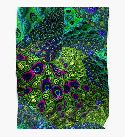 Under The Sea Fractal Keolidescope Pattern Poster