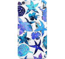 Blue Pochoir Floral iPhone Case/Skin