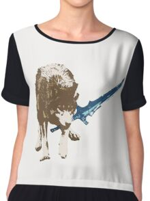 Great Grey Wolf Sif Chiffon Top