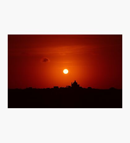 Sunrise Over Small Town Photographic Print