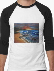 Breaking waves Men's Baseball ¾ T-Shirt