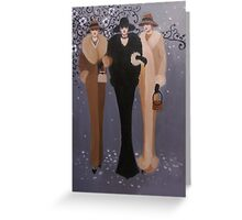 VINTAGE LADIES OUT ON THE TOWN Greeting Card