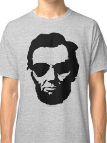 Cool Abe Lincoln with Aviator Sunglasses - Black Classic T-Shirt