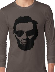 Cool Abe Lincoln with Aviator Sunglasses - Black Long Sleeve T-Shirt