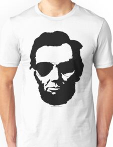 Cool Abe Lincoln with Aviator Sunglasses - Black Unisex T-Shirt