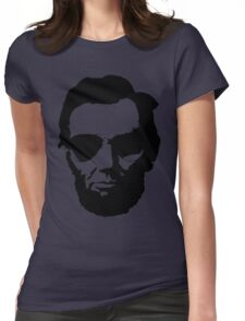 Cool Abe Lincoln with Aviator Sunglasses - Black Womens Fitted T-Shirt