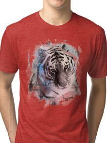 Painted Tiger  Tri-blend T-Shirt