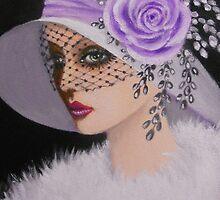 A DEMURE AND VINTAGE LADY by Dian Bernardo