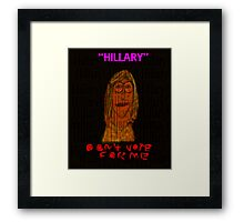 """- """"Don't Vote For Me""""  + Sequential Patterns Framed Print"""