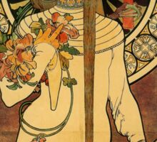 'La Trappistine' by Alphonse Mucha (Reproduction) Sticker