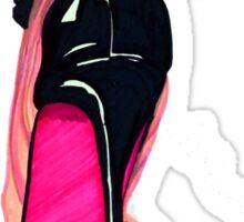 Pink Shoe Sticker