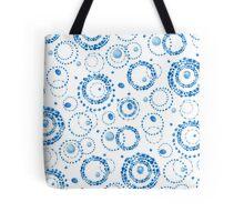 Watercolor circle wreath blue pattern Tote Bag