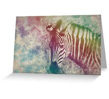 Multicoloured zebra  Greeting Card