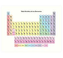 Tabla Periodica de los Elementos - Spanish Periodic Table Art Print