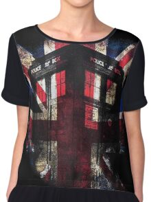 Dr. Who - Union Jack Chiffon Top