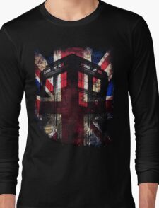 Dr. Who - Union Jack Long Sleeve T-Shirt