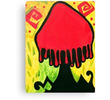 Mexican Culture Shroom Canvas Print