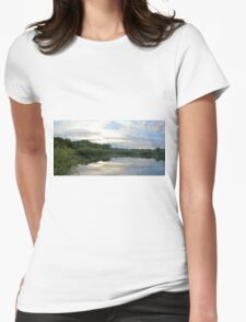 Memorial Reflections Panorama Womens Fitted T-Shirt