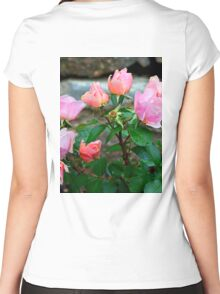 Corals and Pinks  Women's Fitted Scoop T-Shirt