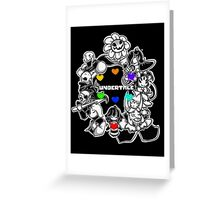 Undertale - Frisk, Sans, Papyrus, Toriel, Undyne Flowey, Mettaton, Muffet, Alphys and Asgore (All Characters) Greeting Card