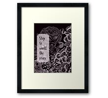 Stop To Smell The Roses Abstract Floral Design  Framed Print
