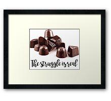 Chocolate Struggle Framed Print