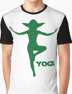 Yoga Yoda Graphic T-Shirt