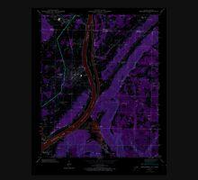 USGS TOPO Map Alabama AL Bridgeport 303333 1945 24000 Inverted Unisex T-Shirt