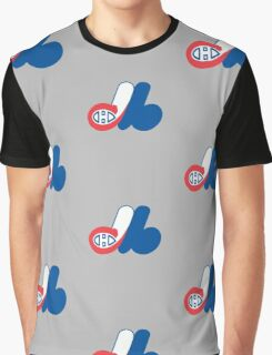 Habs - Expos Logo Mashup Graphic T-Shirt