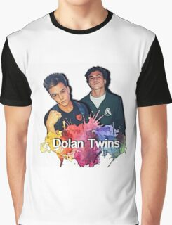 Dolan Twins cartoon paint splat Graphic T-Shirt