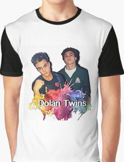 Dolan Twins cartoon paint splat Graphic T-Shirt