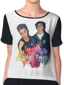 Dolan Twins cartoon paint splat Chiffon Top