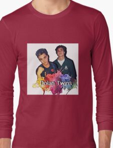 Dolan Twins cartoon paint splat Long Sleeve T-Shirt