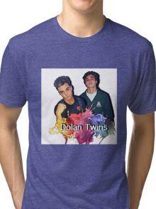 Dolan Twins cartoon paint splat Tri-blend T-Shirt