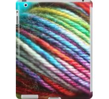 Colorful Yarn Skein for knitters iPad Case/Skin