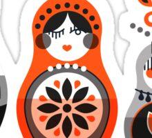 Russian Nesting Dolls – Red & Black Sticker