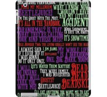 Beetlejuice Quotes iPad Case/Skin