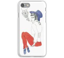Smoking Girl iPhone Case/Skin