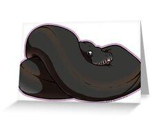 Superblack Pastel Ball Python Greeting Card