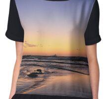 Dusk On The Beach Chiffon Top