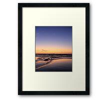 Dusk On The Beach Framed Print