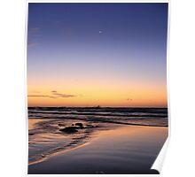 Dusk On The Beach Poster
