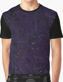 USGS TOPO Map Alabama AL Parker Springs 20110926 TM Inverted Graphic T-Shirt