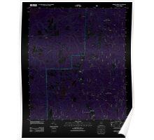 USGS TOPO Map Alabama AL Parker Springs 20110926 TM Inverted Poster