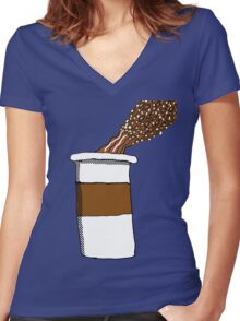 Coffee: Beans to Liquid  Women's Fitted V-Neck T-Shirt