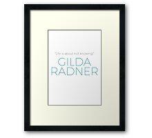Gilda Radner Framed Print