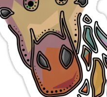 Abstract Decorative Giraffe Sticker