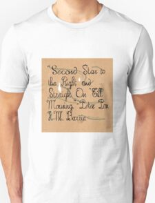Second Star, Peter Pan Quote T-Shirt